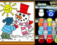 Winter holiday coloring pages online